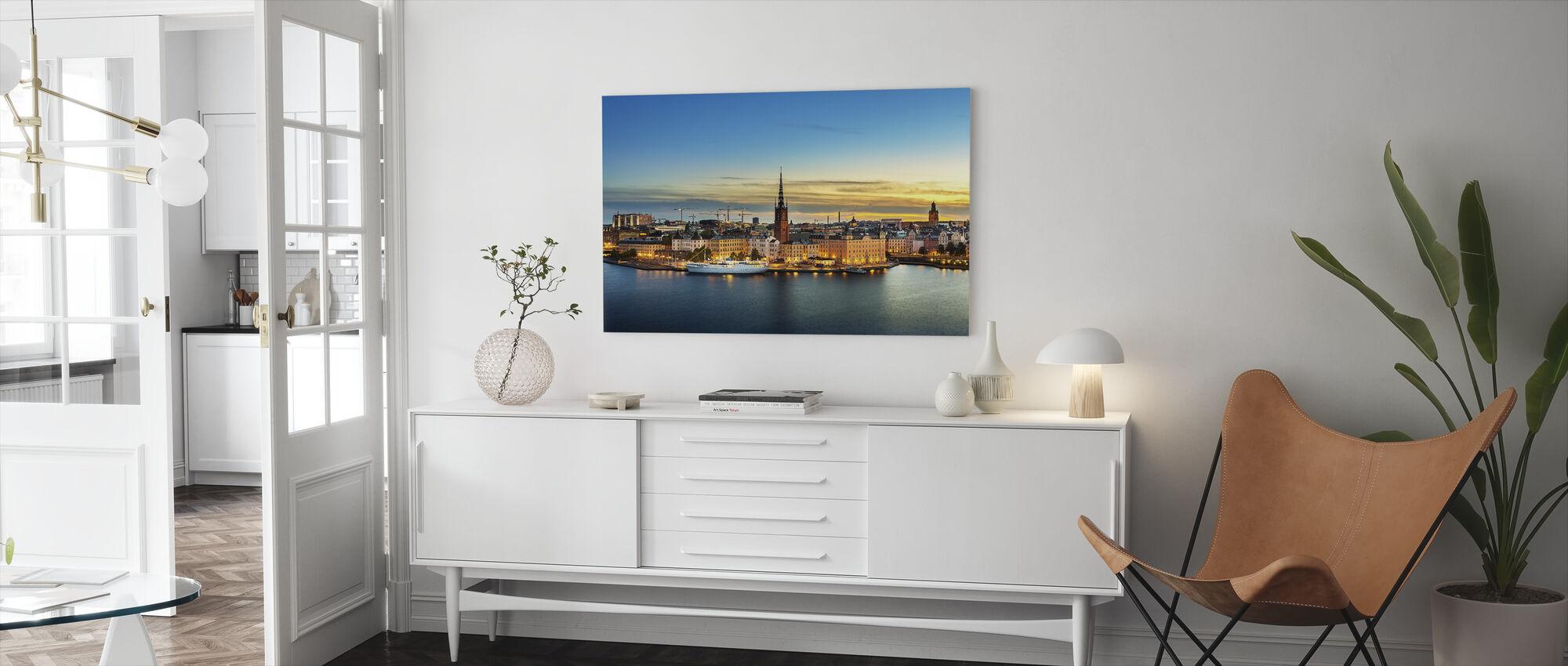Sunset over Riddarholmen Stockholm - Canvas print - Living Room