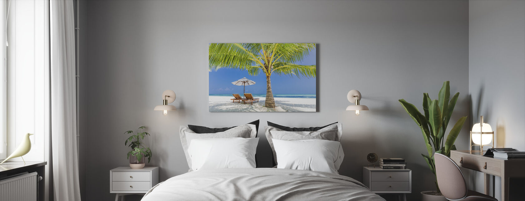 Tranquil Beach - Canvas print - Bedroom