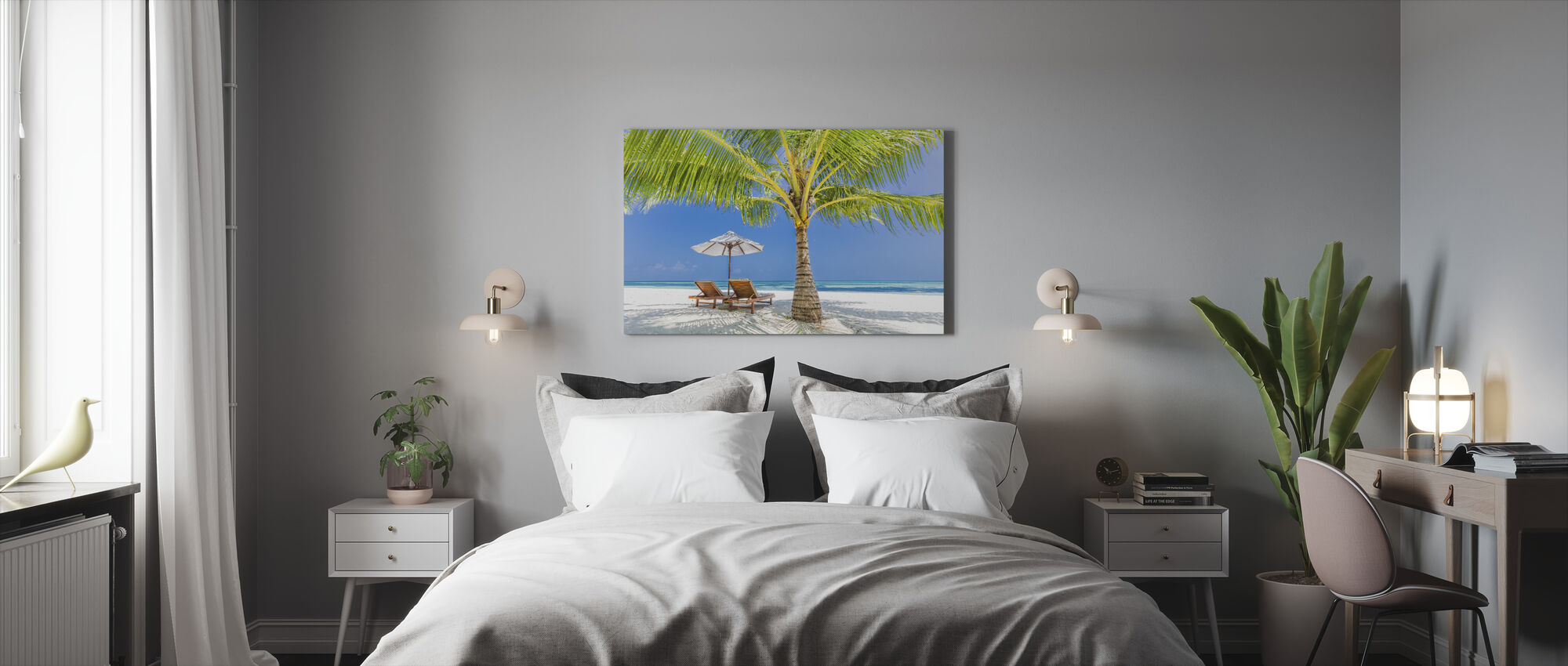 Tranquil Beach - Canvas print - Bedroom