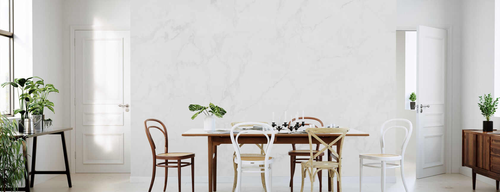 White Marble - Wallpaper - Kitchen