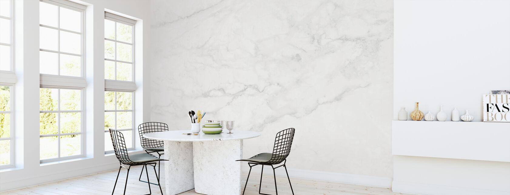 Wit marmer - Behang - Keuken