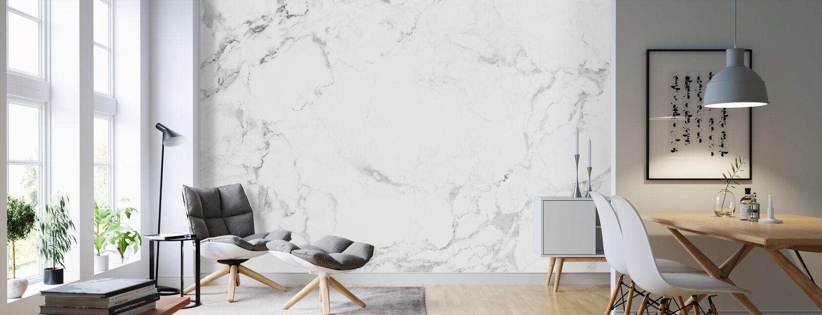 Hvit marmor - Tapet - Stue