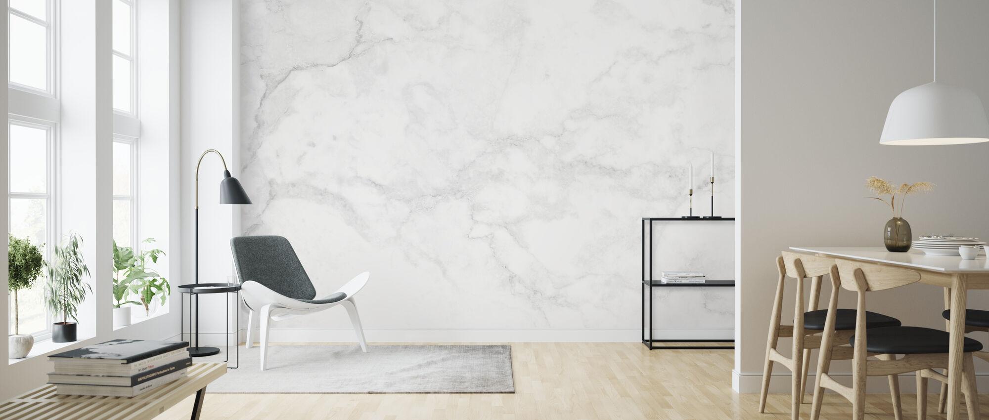 Valkoinen marmori - Tapetti - Olohuone