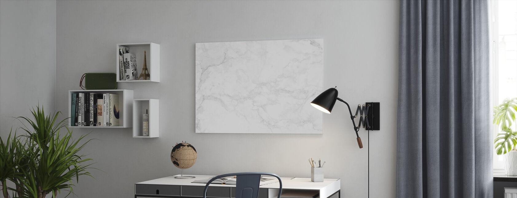 Valkoinen marmori - Canvastaulu - Toimisto