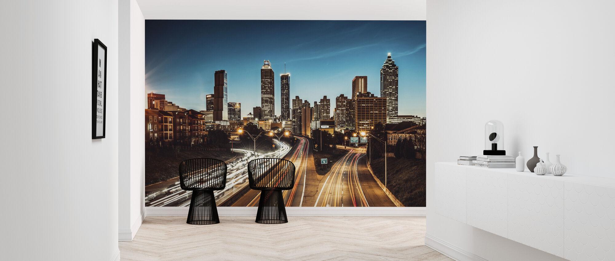 Atlanta Skyline at Dusk - Wallpaper - Hallway