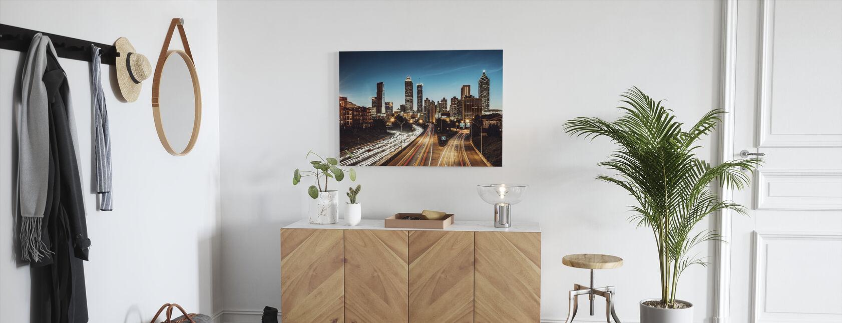 Atlanta Skyline i Dusk - Billede på lærred - Entré
