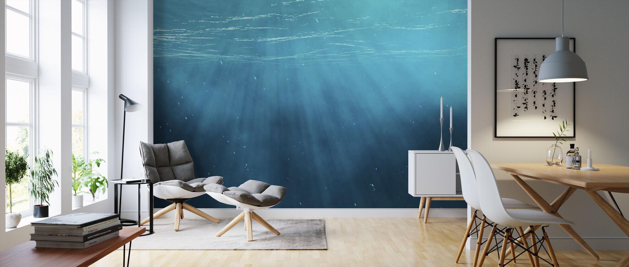 Under vann - Tapet - Stue