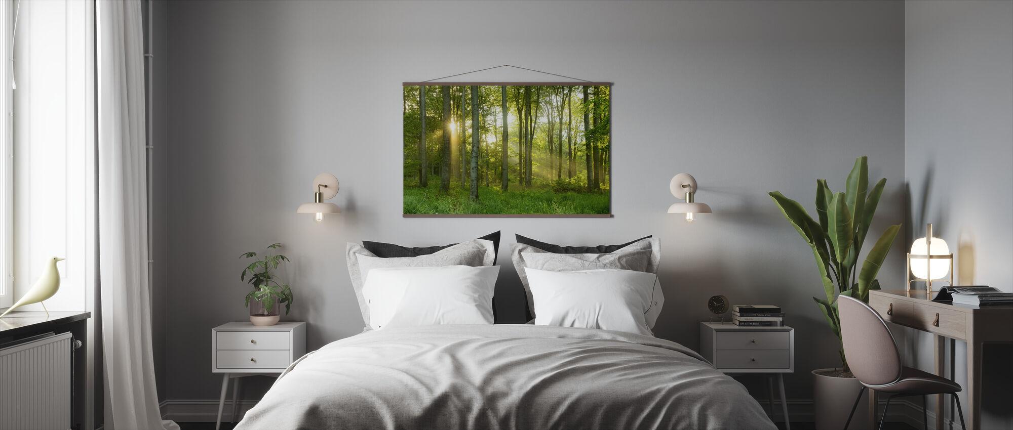 Pyökki puu Metsä - Juliste - Makuuhuone