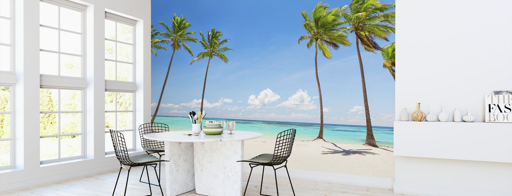 Palm Trees on white Beach - Wallpaper - Kitchen