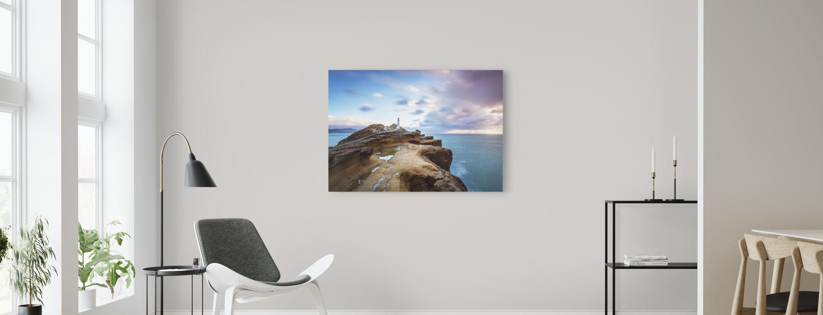 Lighthouse at Sunrise - Canvas print - Living Room