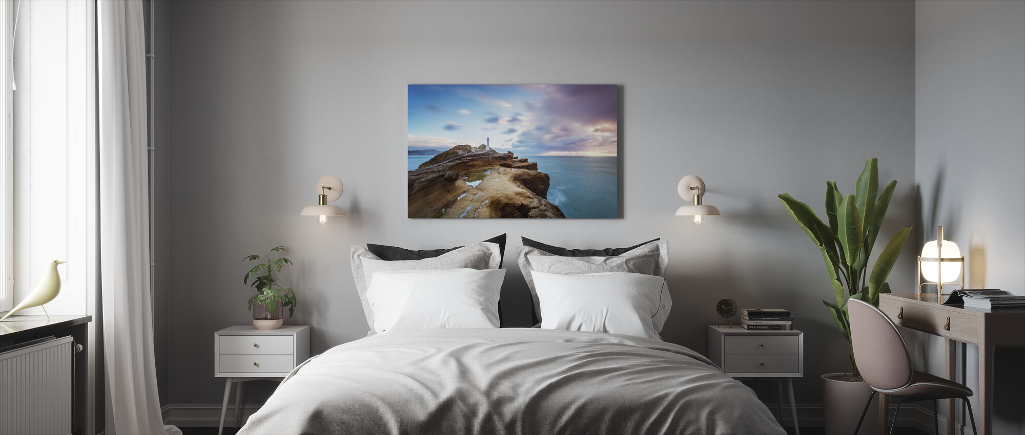 Lighthouse at Sunrise - Canvas print - Bedroom