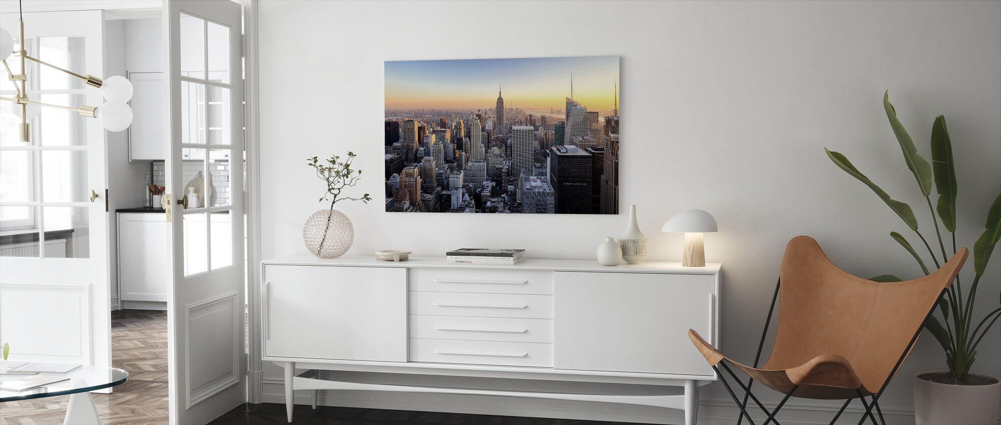 Manhattan Skyline - Lerretsbilde - Stue
