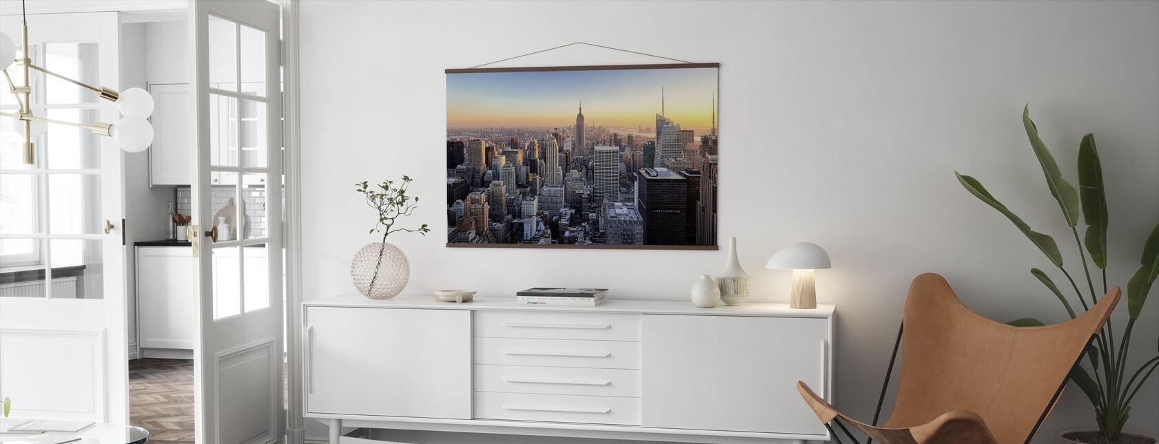 Manhattan Skyline - Poster - Woonkamer