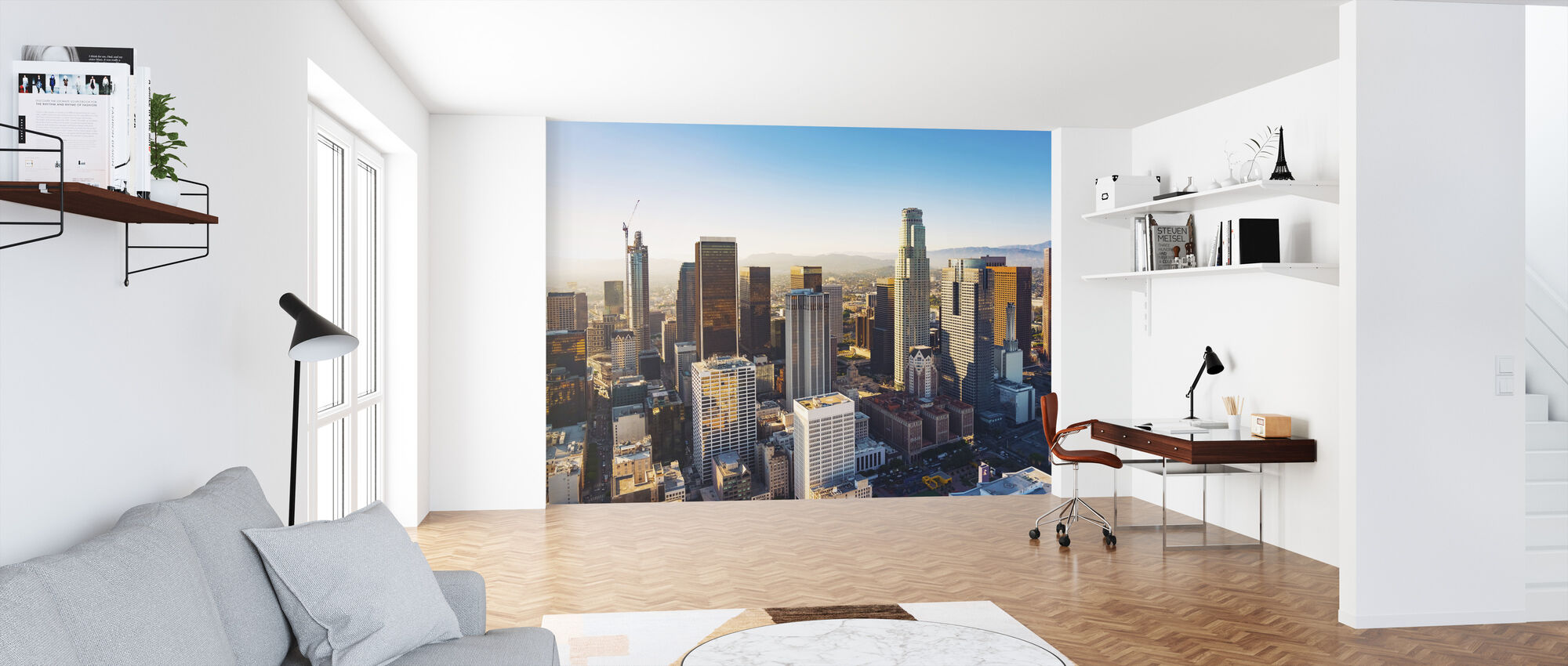 Downtown LA at Sunset - Wallpaper - Office