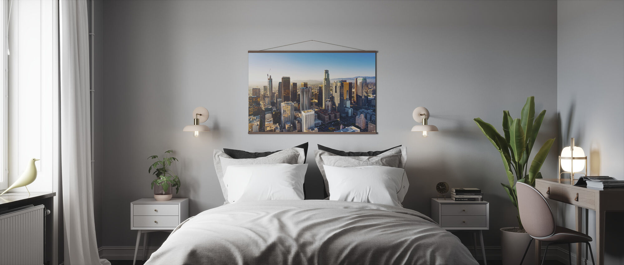 Downtown LA at Sunset - Poster - Bedroom
