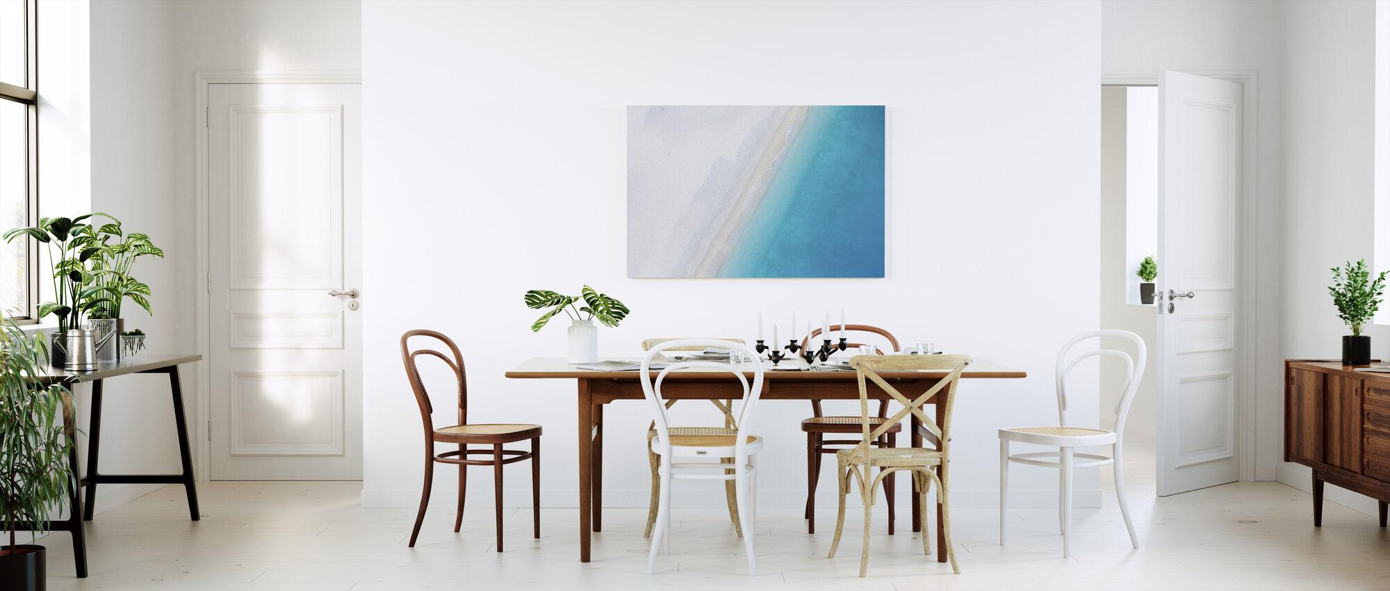 Deserted Sandy Beach - Canvas print - Kitchen