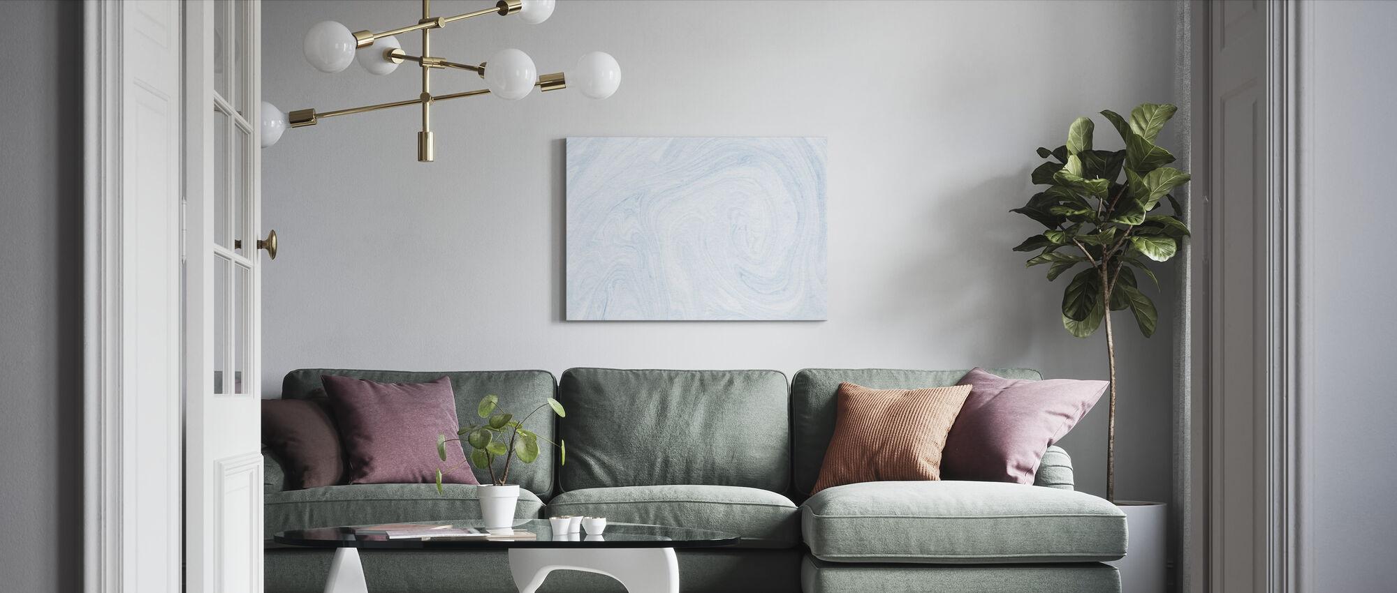 Suminagashi Marbling Kiiro III - Canvas print - Living Room