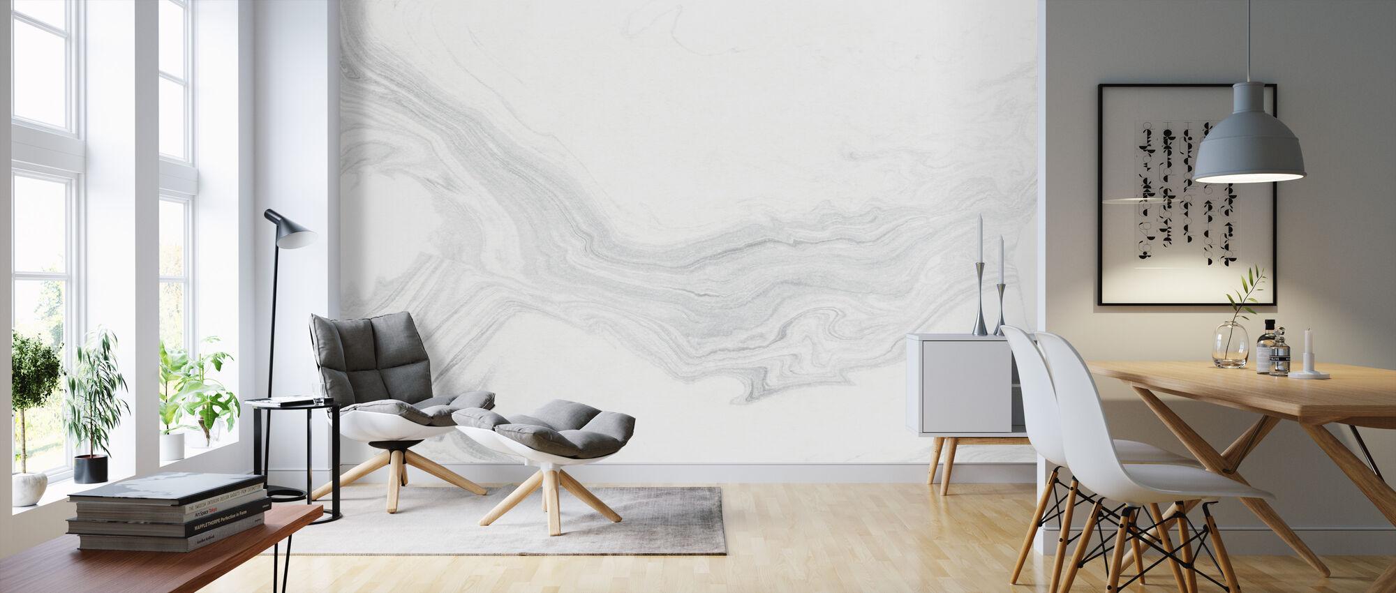 Suminagashi Marbling Kuro III - Wallpaper - Living Room