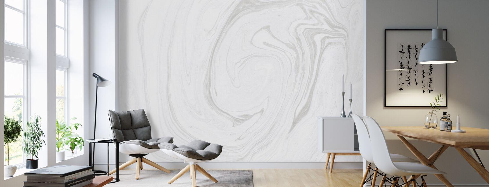 Suminagashi Marbling Kuro IIII - Wallpaper - Living Room
