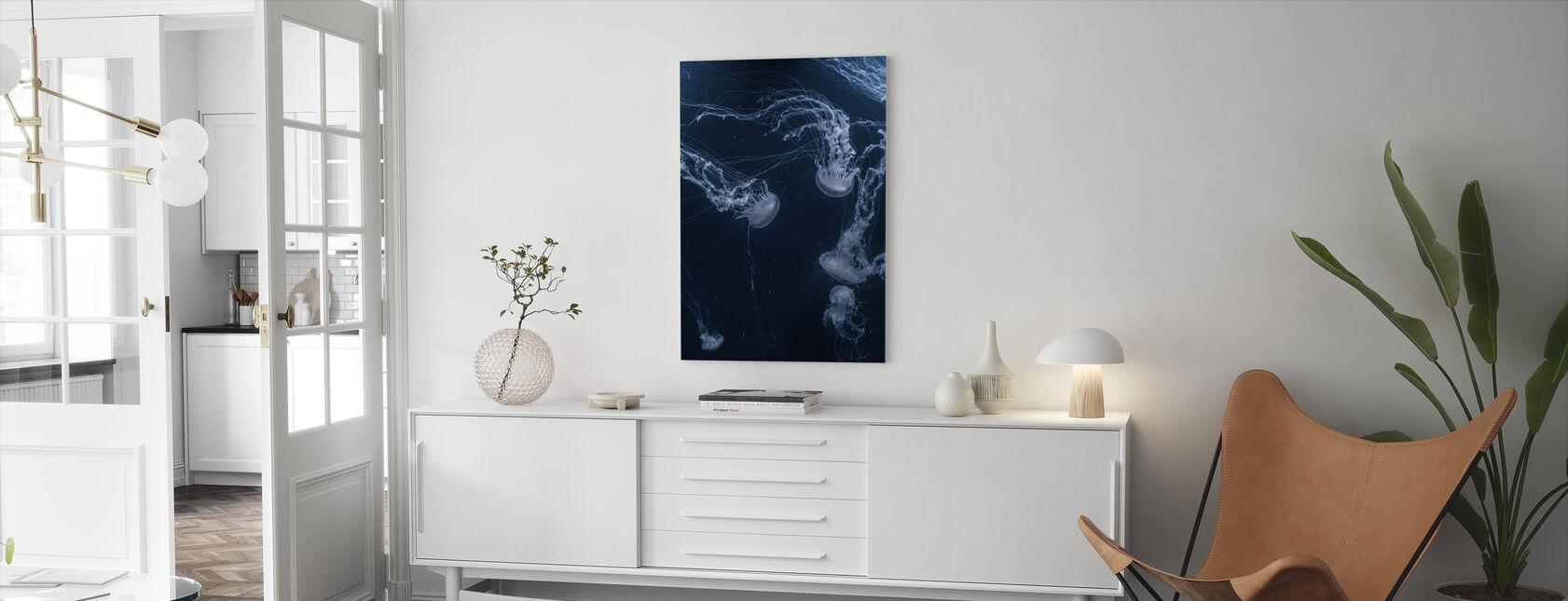 Weiße Qualle - Leinwandbild - Wohnzimmer
