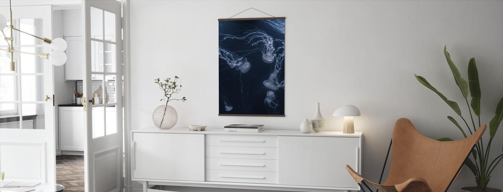 White Jellyfish - Poster - Living Room