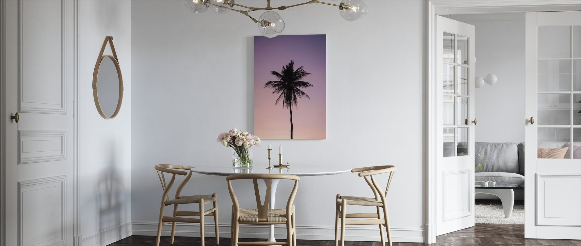 Drzewo palmowe - Obraz na płótnie - Kuchnia