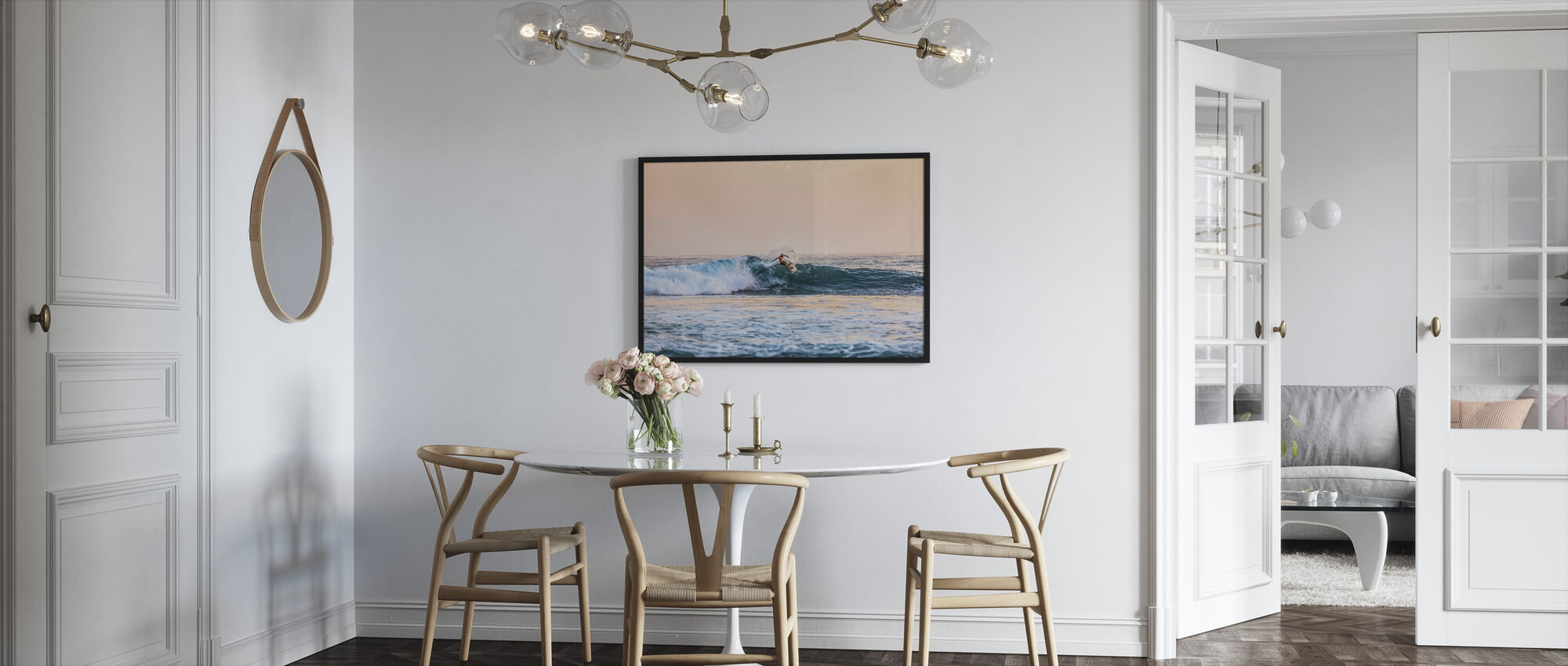 Surfing - Framed print - Kitchen