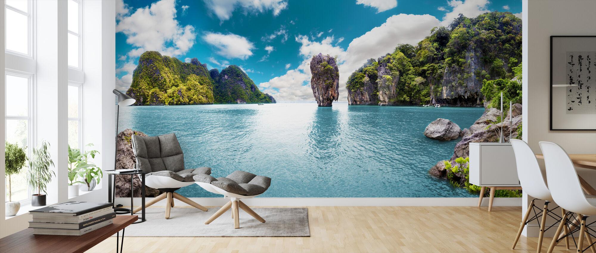 Island Seascape - Wallpaper - Living Room