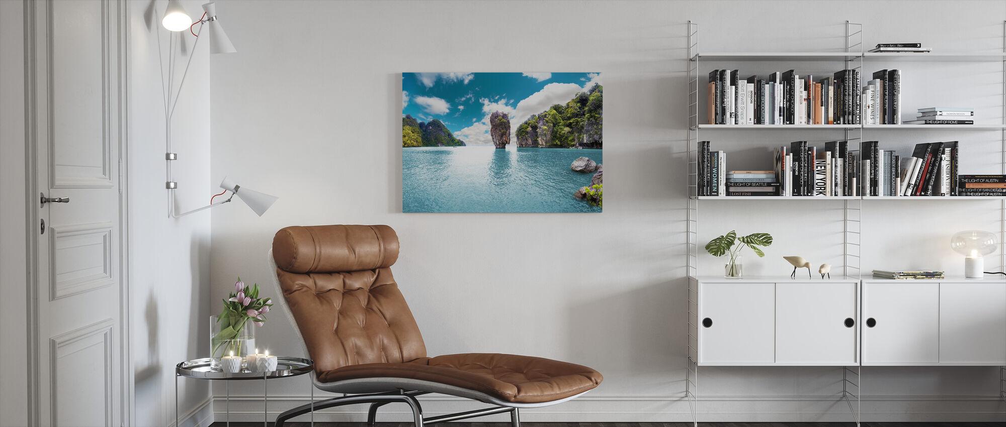 Island Seascape - Canvas print - Living Room