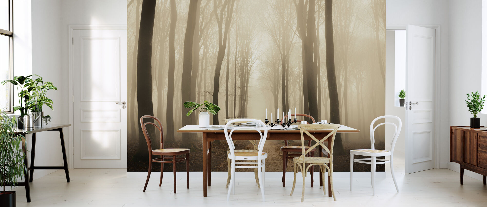 Misty Forest - Wallpaper - Kitchen