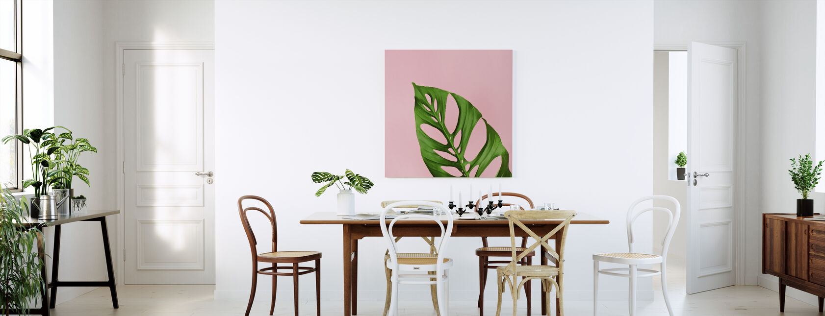 Philodendron Leaf - Canvas print - Kitchen