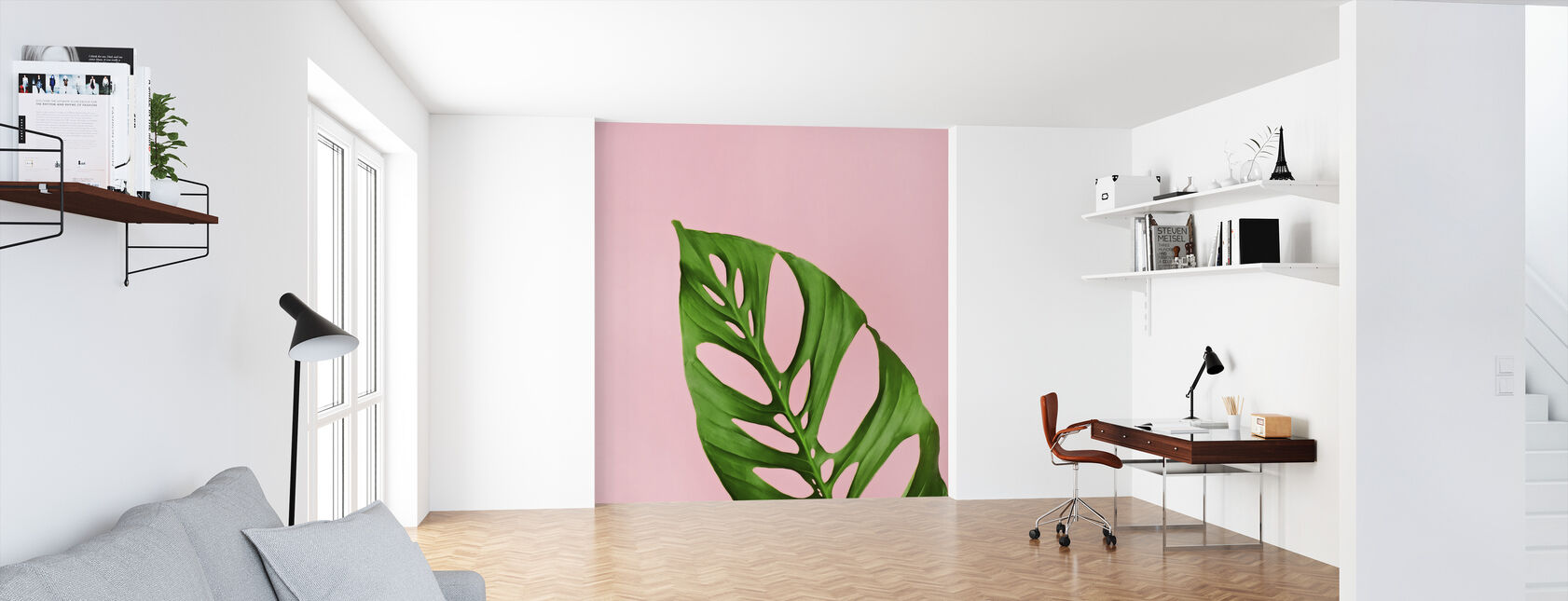 Philodendron Leaf - Wallpaper - Office