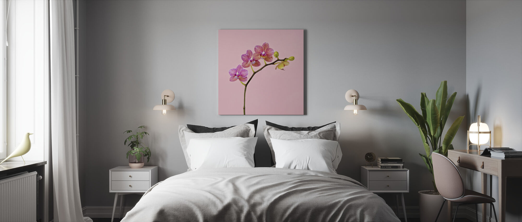 Pink Orchid - Canvas print - Bedroom