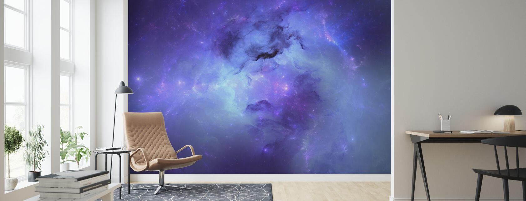 Blue Nebula - Wallpaper - Living Room
