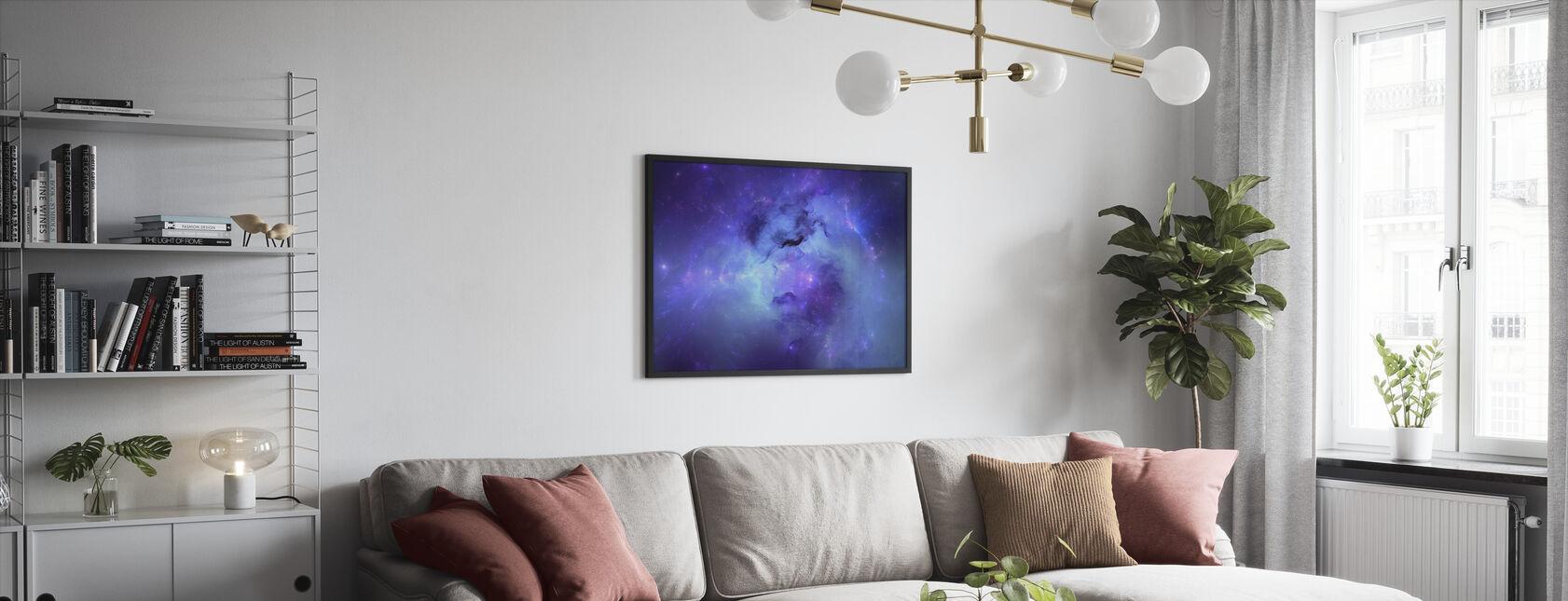 Blue Nebula - Framed print - Living Room