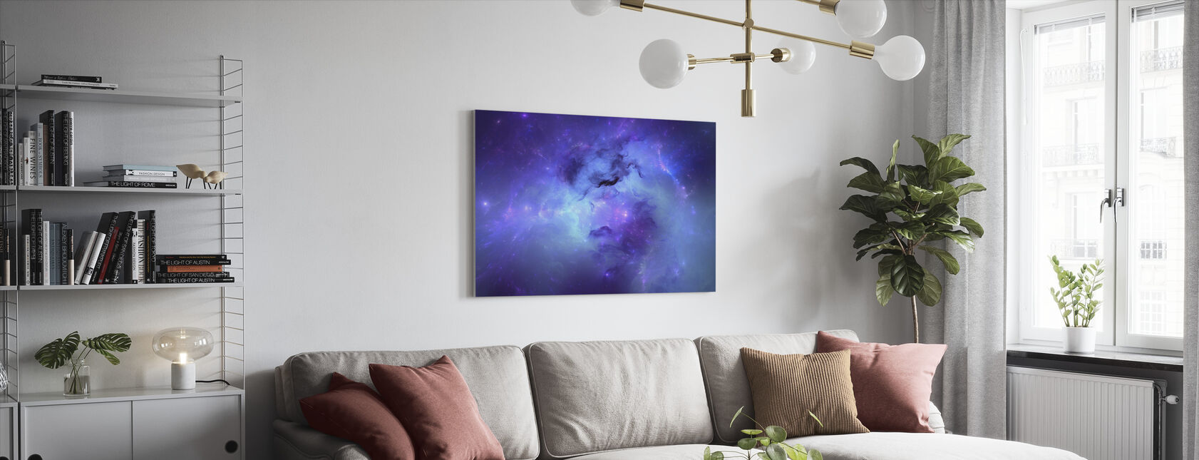 Blue Nebula - Canvas print - Living Room