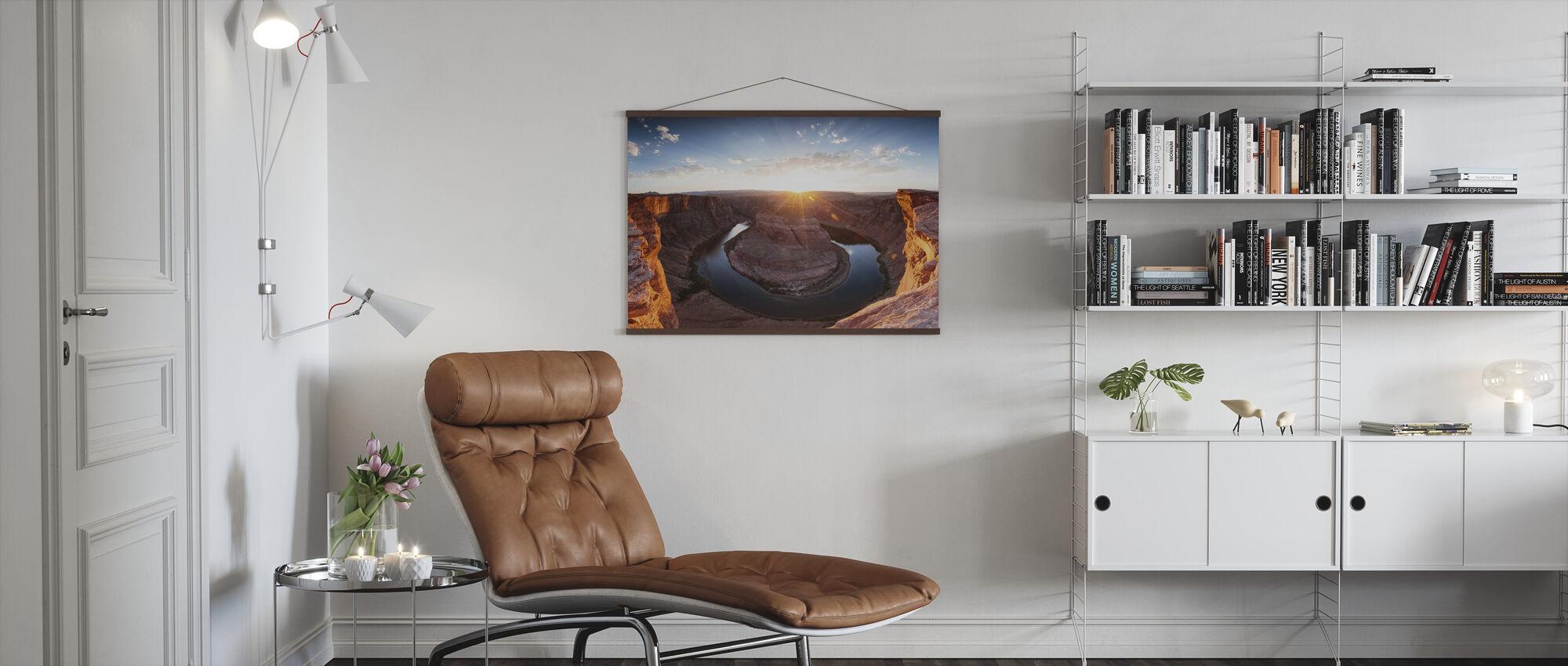 Hästsko Böj - Poster - Vardagsrum