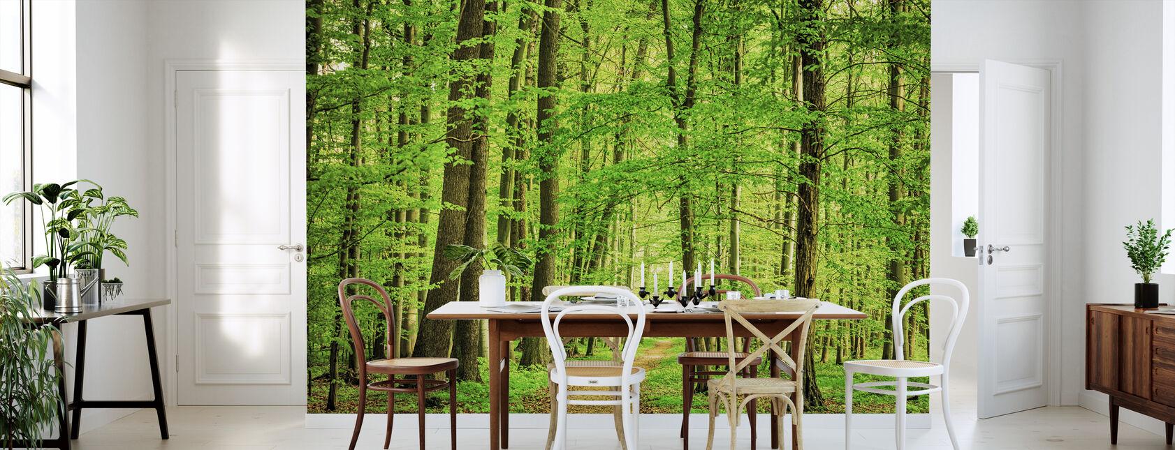 Grønne Skov i foråret - Tapet - Køkken