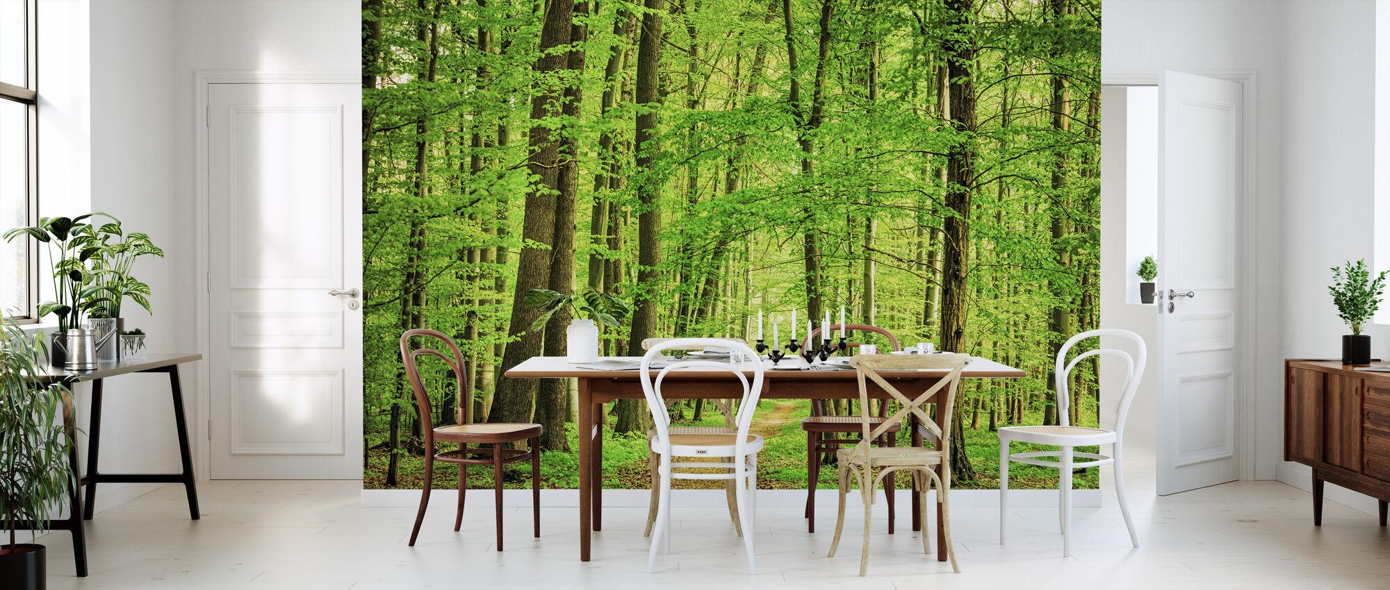 Gröna skogen på våren - Tapet - Kök