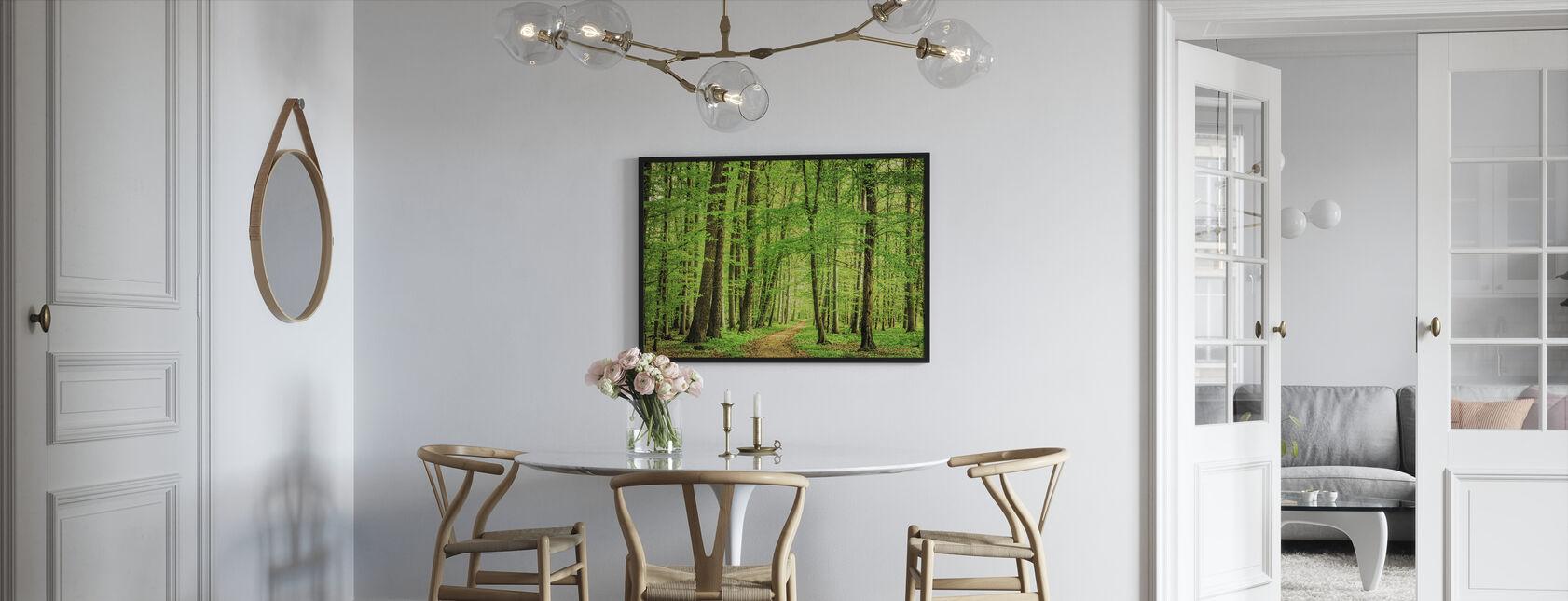 Green Forest in Spring - Framed print - Kitchen