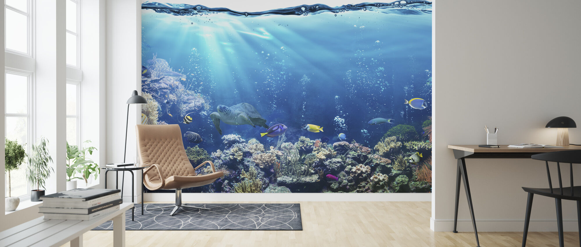 Underwater Scene - Wallpaper - Living Room