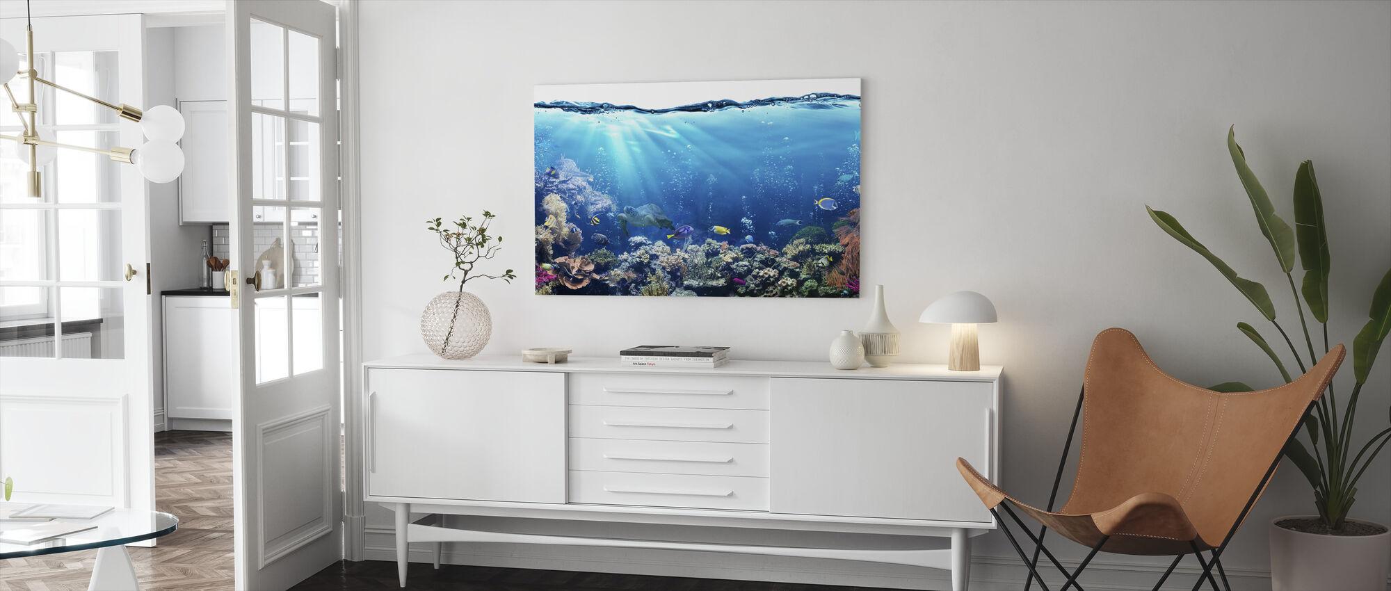 Underwater Scene - Canvas print - Living Room