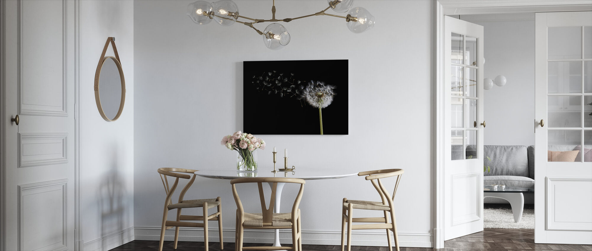 Dandelion Seeds in the Wind - Canvas print - Kitchen