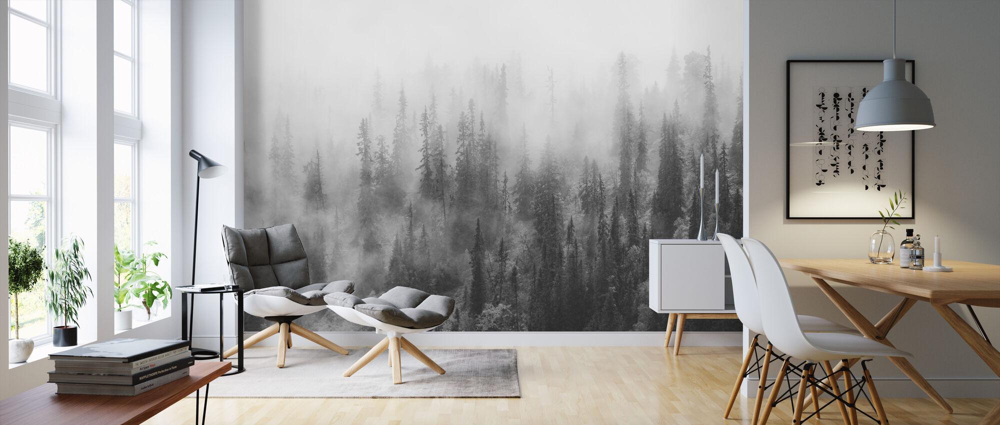 Skog i Tåke - Tapet - Stue