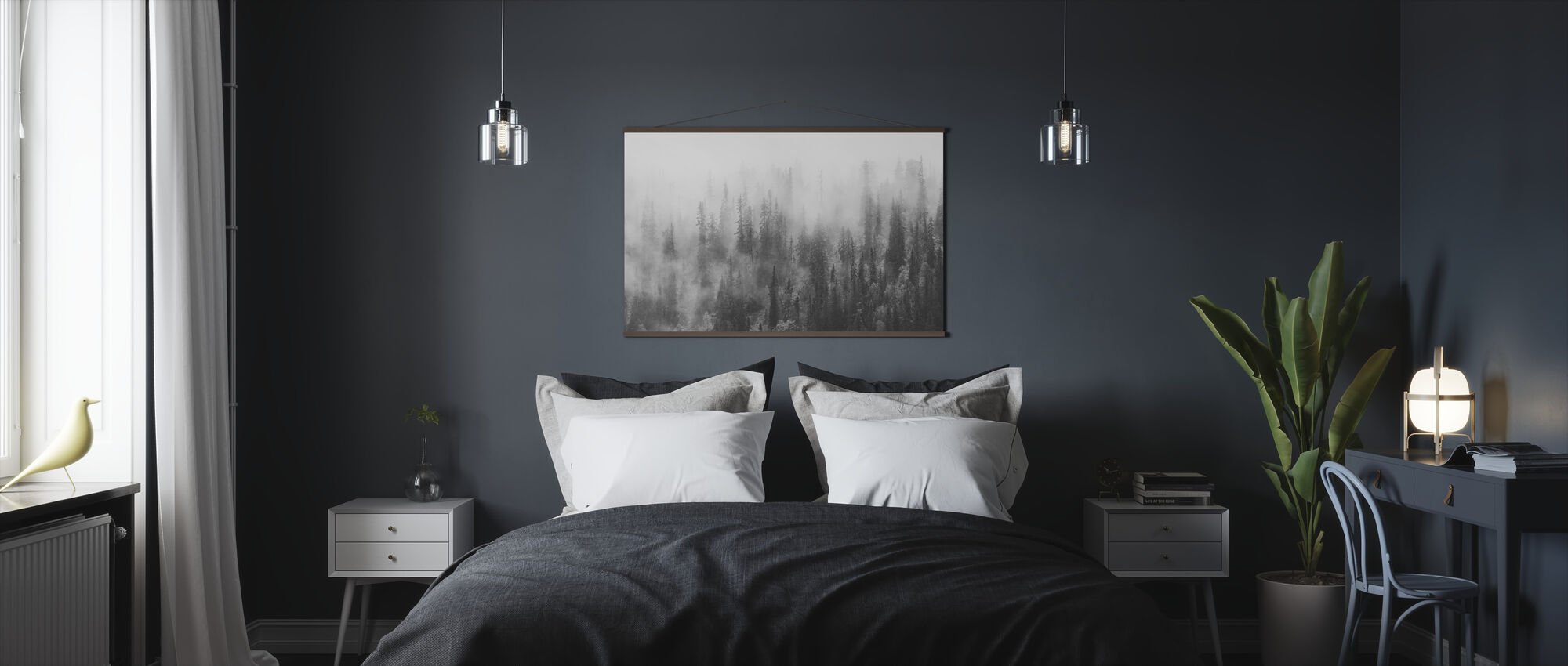 Forest in Fog - Poster - Bedroom