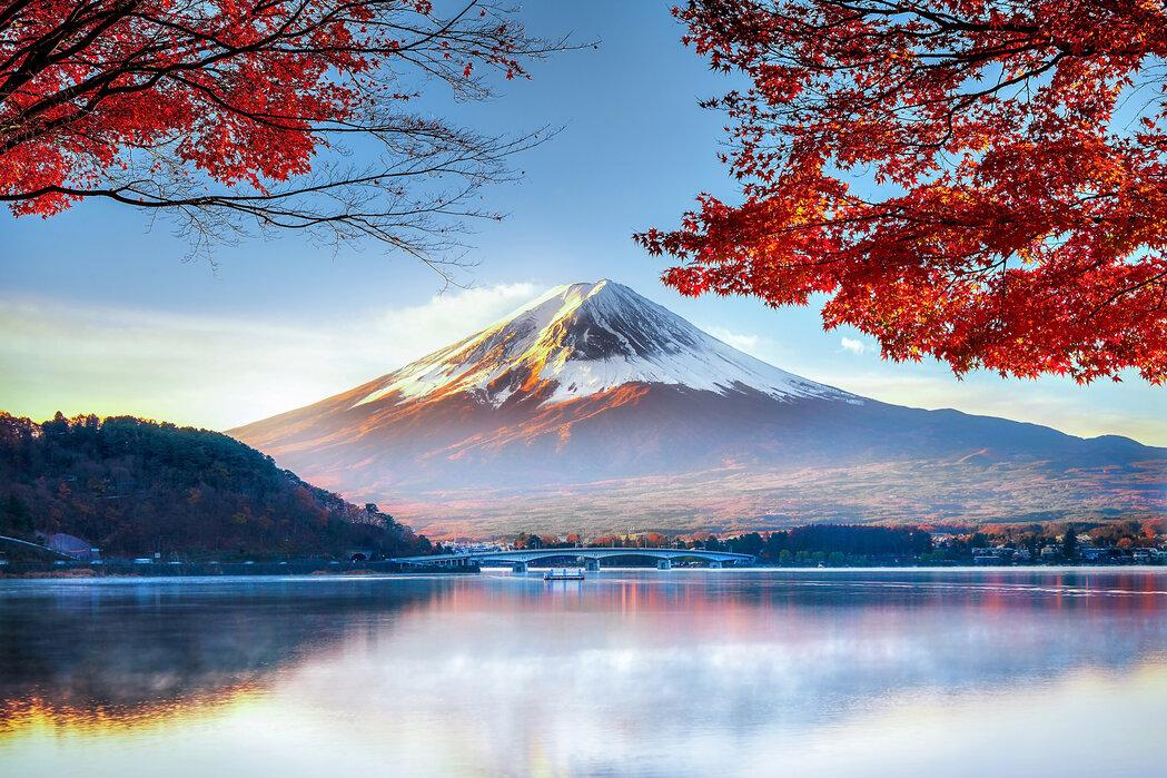Fuji Mountain In Autumn Popular Wall Mural Photowall