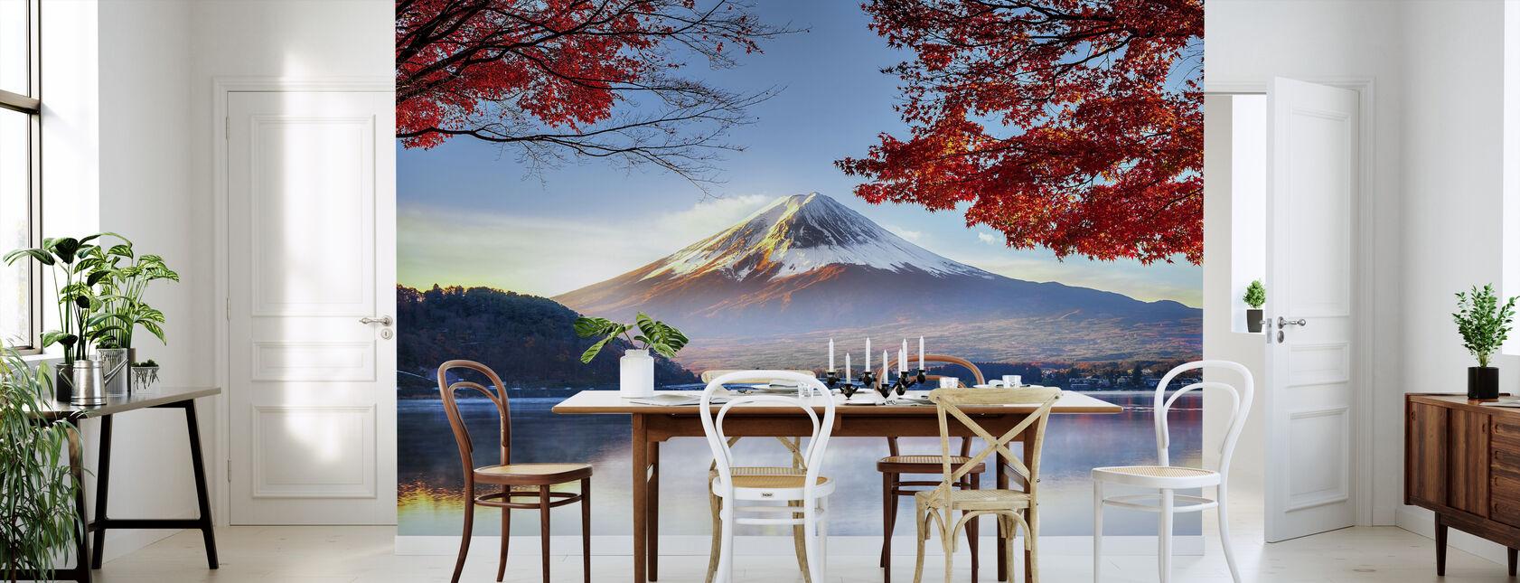 Fuji-berg in de herfst - Behang - Keuken