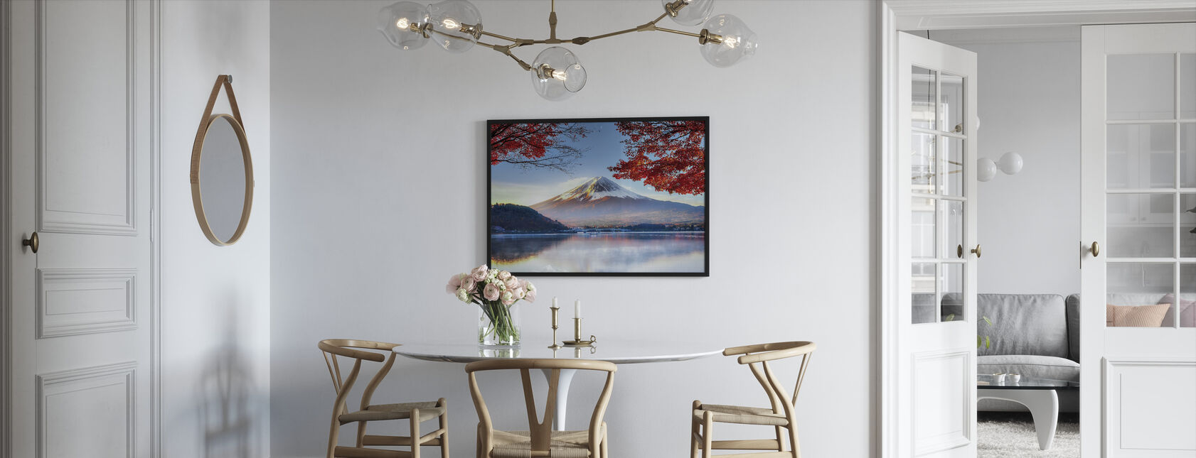 Fuji Mountain in Autumn - Framed print - Kitchen