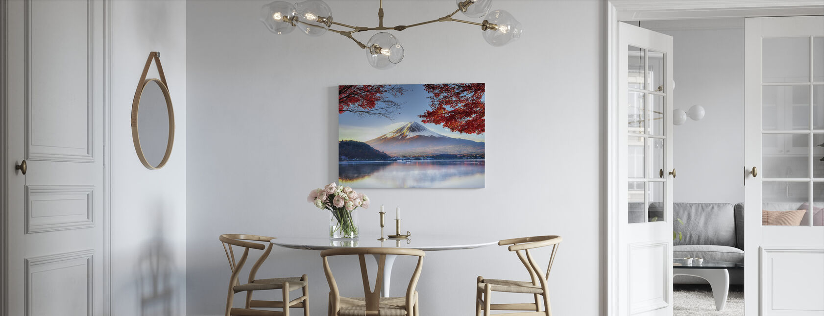 Fuji-berg in de herfst - Canvas print - Keuken