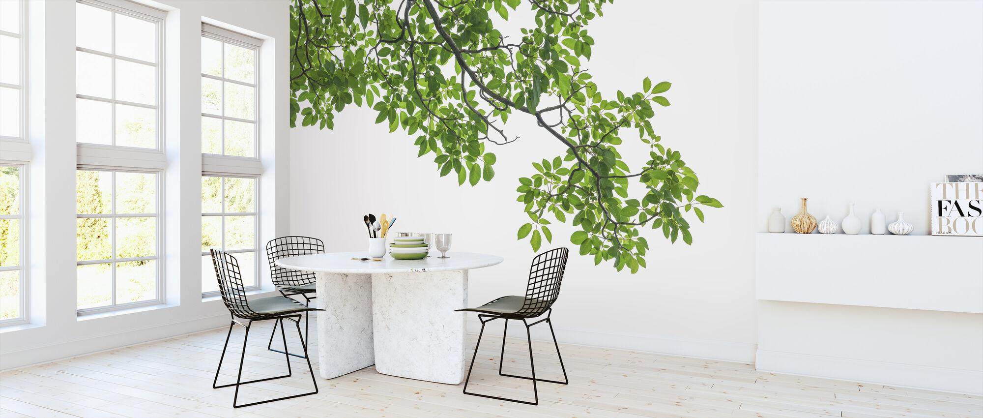Green Tree Leaves - Wallpaper - Kitchen